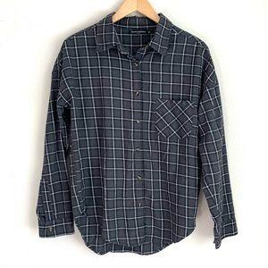 Brandy Melville plaid button down flannel shirt